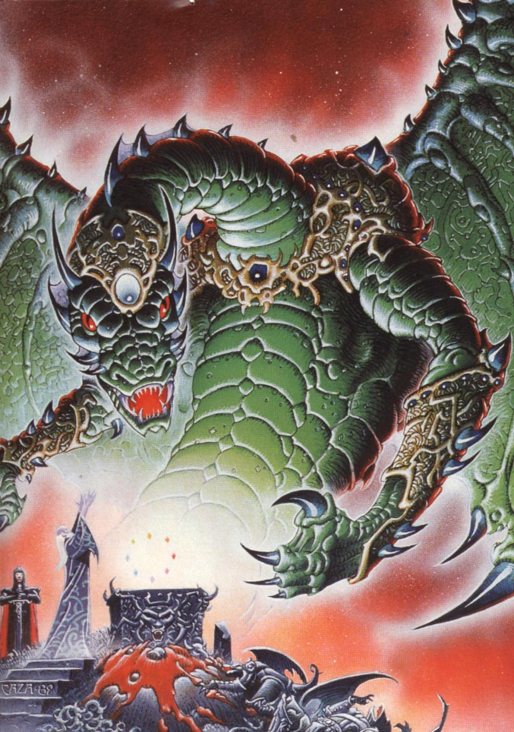 The Fantasy Dragon Art Pics by Philippe CAZA ( A page from ...
